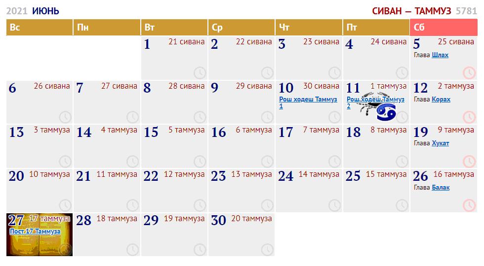 июнь / ияр — сиван