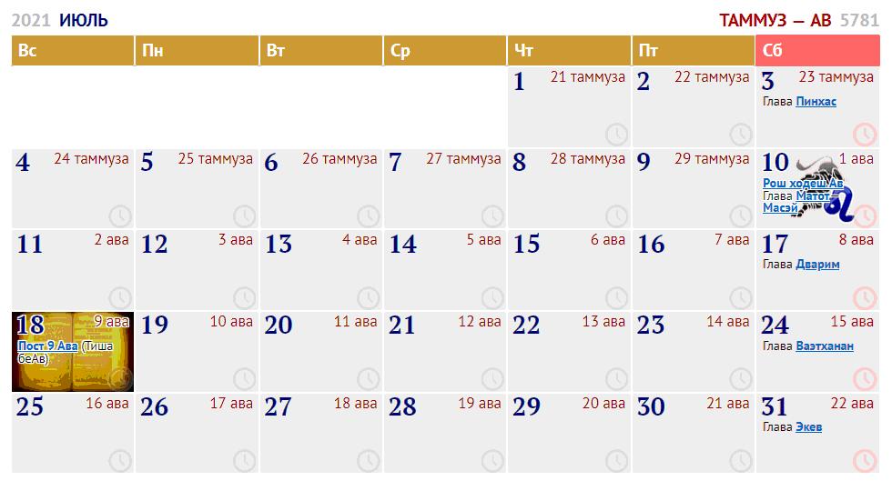 июль / сиван — таммуз