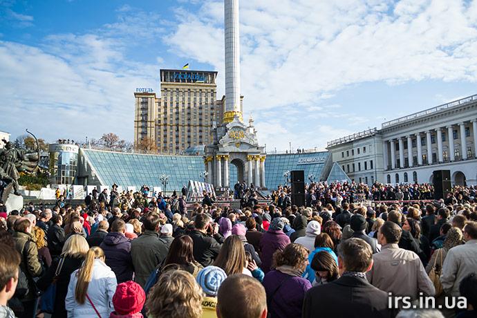 В центре Киева христиане молились за мир в Украине