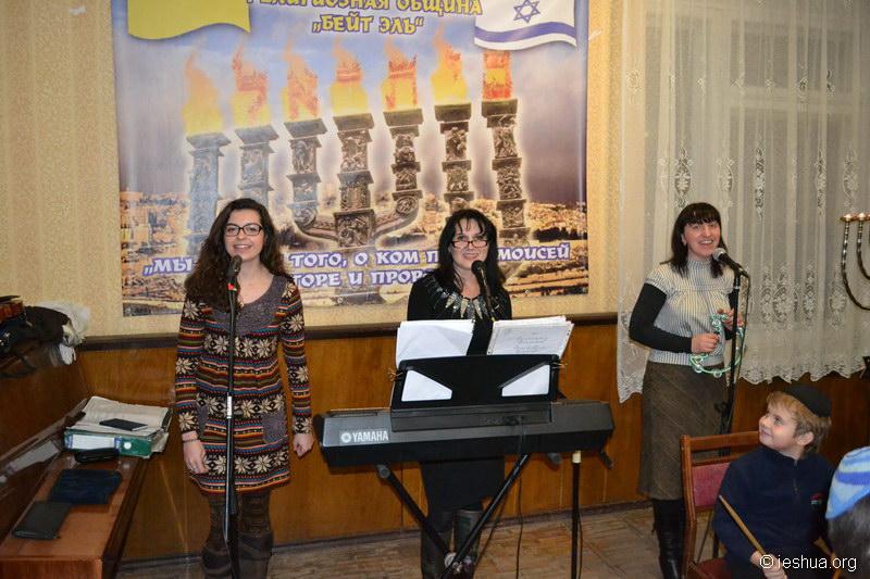 Ханука у мессианских евреев Казатина. Фотогалерея