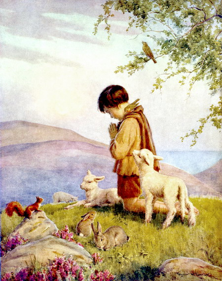 Waiting For The Word - Lamb of God 30 - Margaret Tarrant