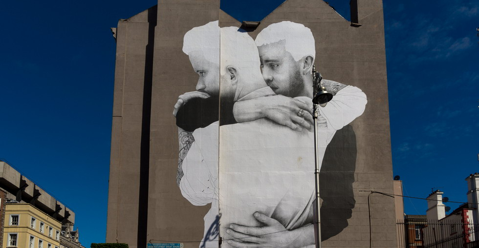 William Murphy - LARGE MURAL BY JOE CASLIN [SAME-SEX MARRIAGE] REF-103588