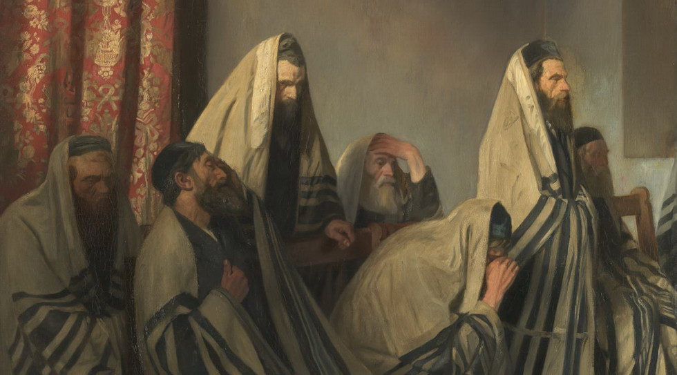 Jews Mourning in a Synagogue 1906 by Sir William Rothenstein 1872-1945