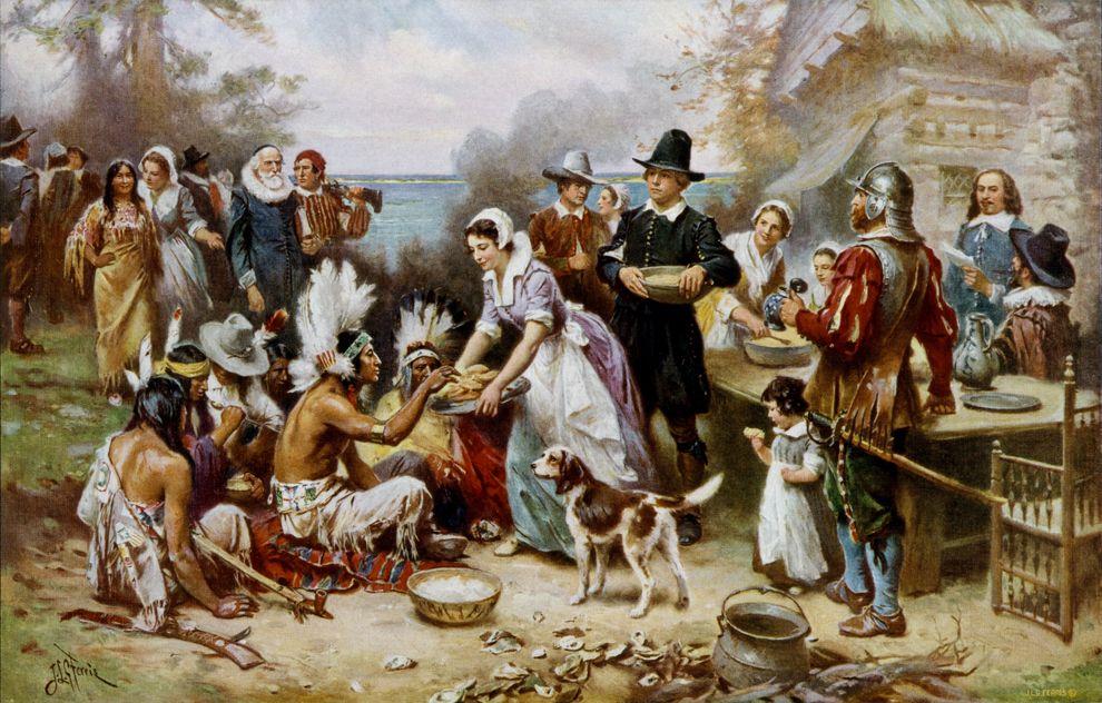 День благодарения в США: как это было в первый раз