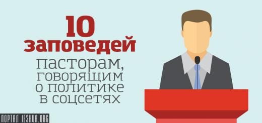 10 заповедей пасторам, говорящим о политике в соцсетях