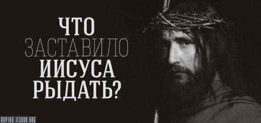 Что заставило Иисуса рыдать?