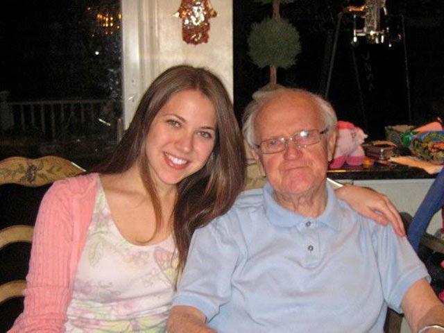 Джессика Кац со своим дедом Абрамом Бельжицким