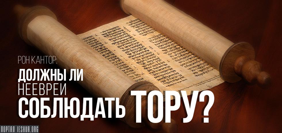 Должны ли неевреи соблюдать Тору?