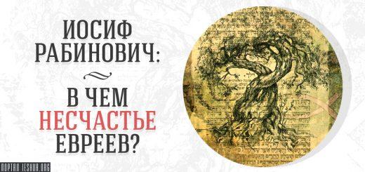 Иосиф Рабинович: В чем несчастье евреев?