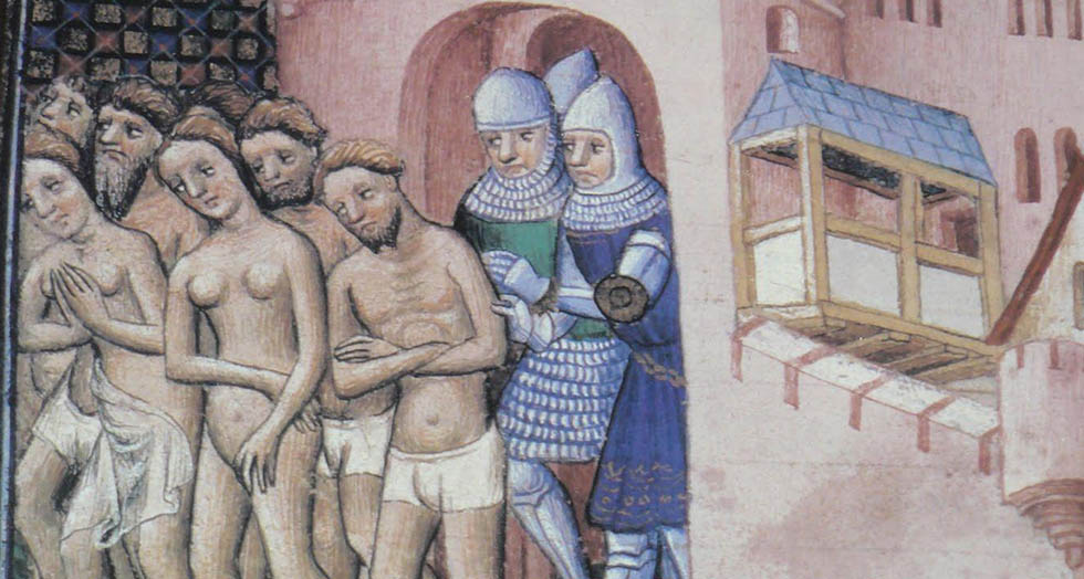 Painting. Expulsion of the Cathars