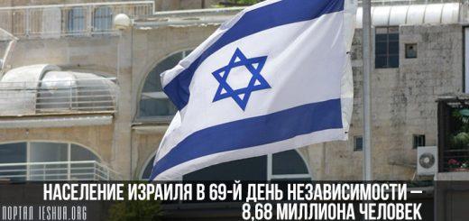 Население Израиля в 69-й День независимости – 8,68 миллиона человек