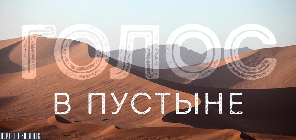 Голос в пустыне