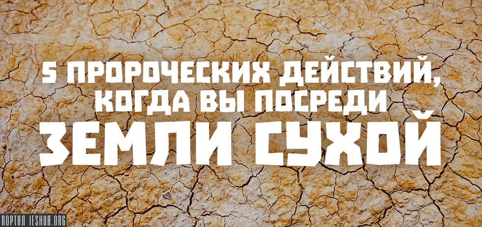 5 пророческих действий, когда вы посреди земли сухой и безводной