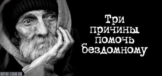 Три причины помочь бездомному