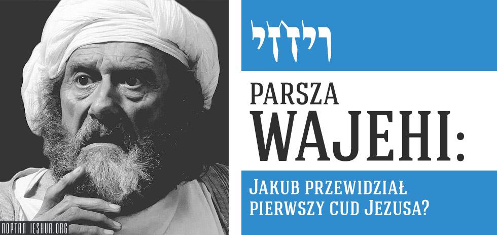 Parsza Wajehi: Jakub przewidział pierwszy cud Jezusa?