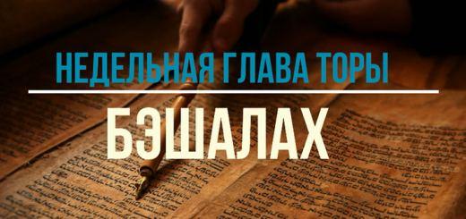 Бэшалах: Разве на смерть вывел нас Бог из рабства?