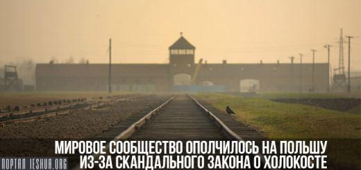 Мировое сообщество ополчилось на Польшу из-за скандального закона о Холокосте