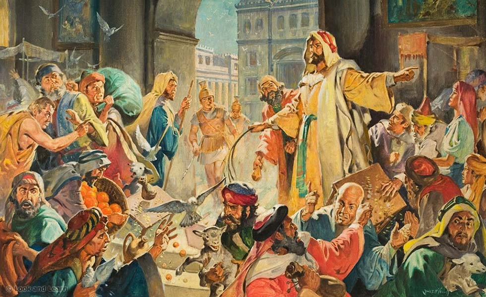 Christ Removing the Money Lenders from the Temple