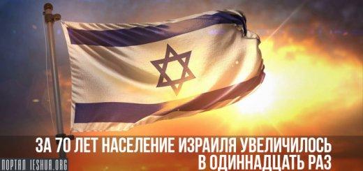 За 70 лет население Израиля увеличилось в одиннадцать раз