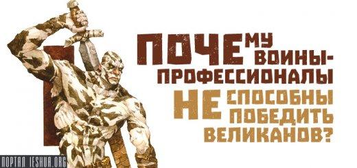 Почему воины-профессионалы не способны победить великанов?