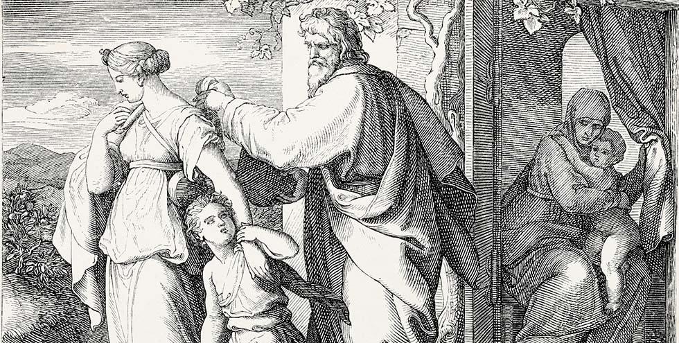 Abraham sending his son Hagar away