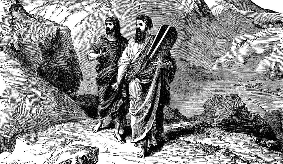 Joshua And Moses Carrying The Law