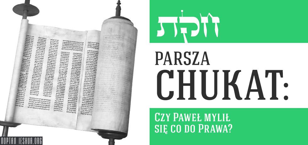 Parsza Chukat: Czy Paweł mylił się co do Prawa?