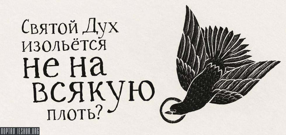Святой Дух изольётся не на всякую плоть?