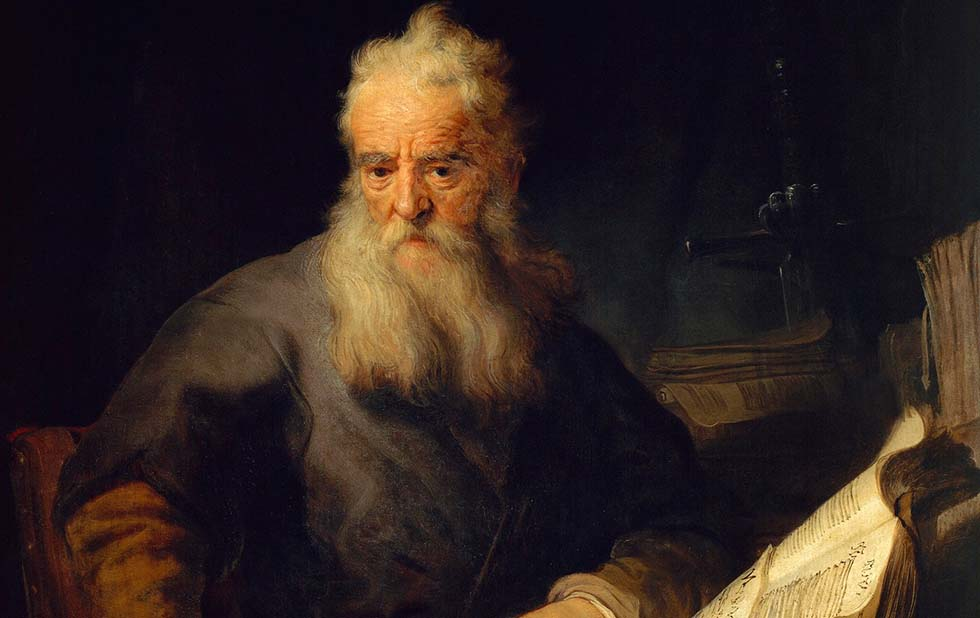 The apostle Paul, 1635, by Rembrandt (1606-1669), oil on canvas, 135x111 cm. (Photo by DeAgostini/Getty Images)