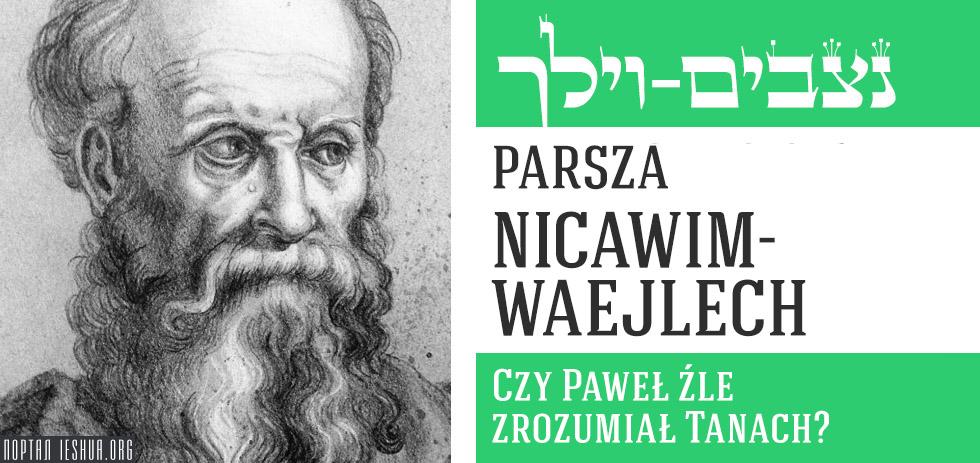 Parsza Nicawim-Waejlech: Czy Paweł źle zrozumiał Tanach?