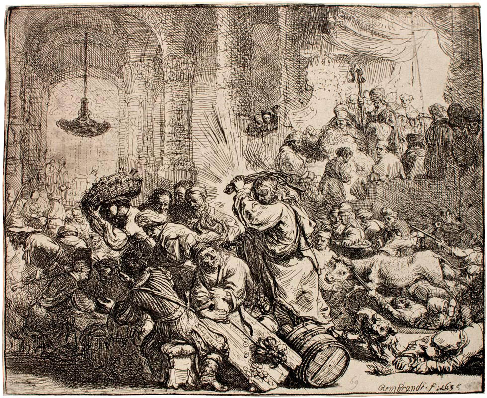 Christ driving the money-changers from the Temple (Rembrandt)