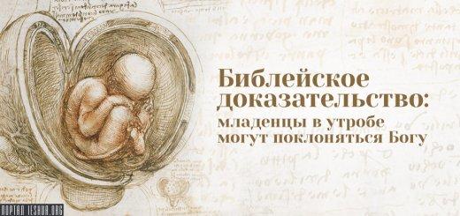 Библейское доказательство: младенцы в утробе могут поклоняться Богу