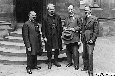 Пётр Городищ , Епископ Линкольнский, Кенон Татлоу и Преп. Джордж Кастерс - конференция в Эдинбурге, 1937г.
