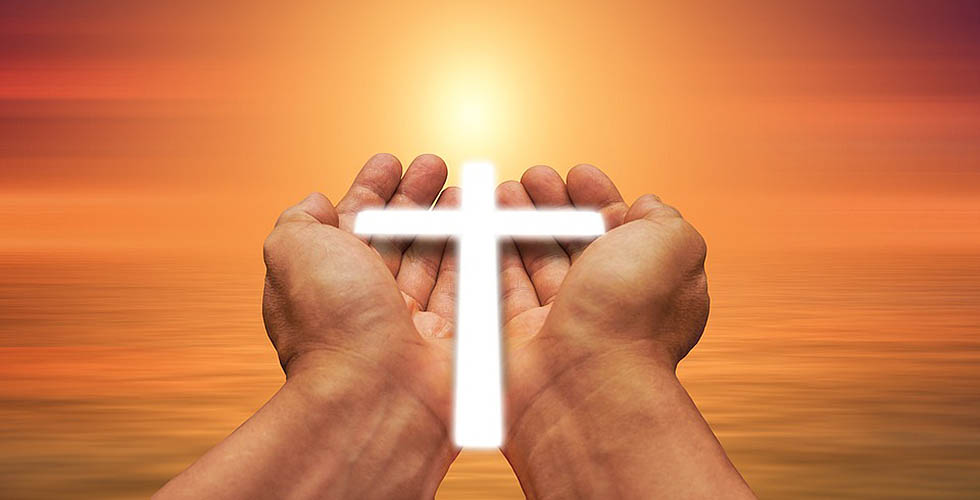 Trust Hand God Faith Cross Light Pray Religion