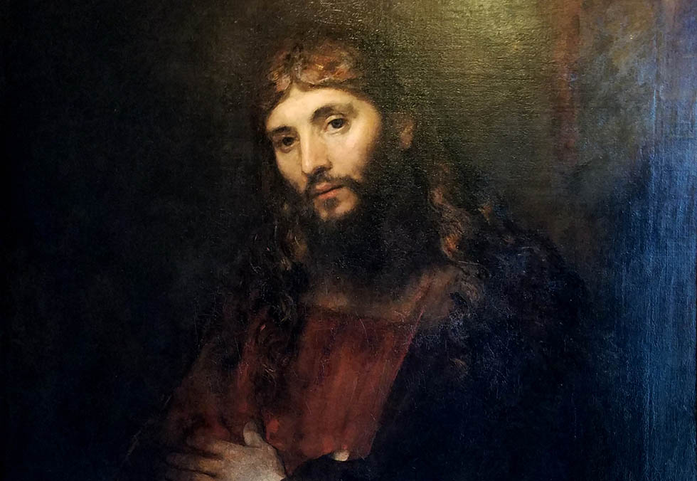Christ with Arms Folded, by Rembrandt van Rijn, c. 1657-1661, oil on canvas - Hyde Collection - Glens Falls, NY