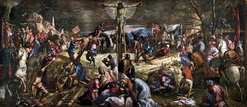 Tintoretto, La crocifissione, Sala dell'albergo, Scuola di San Rocco, Venezia