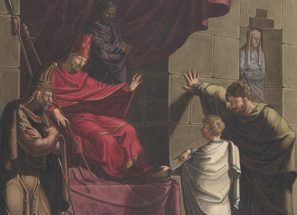 Franz von Hauslab the Younger, Austrian, Vienna 1798-1883, Daniel interprets Nebuchadnezzar's Dream. The Metropolitan Museum of Art, New York. Harris Brisbane Dick Fund, 1953
