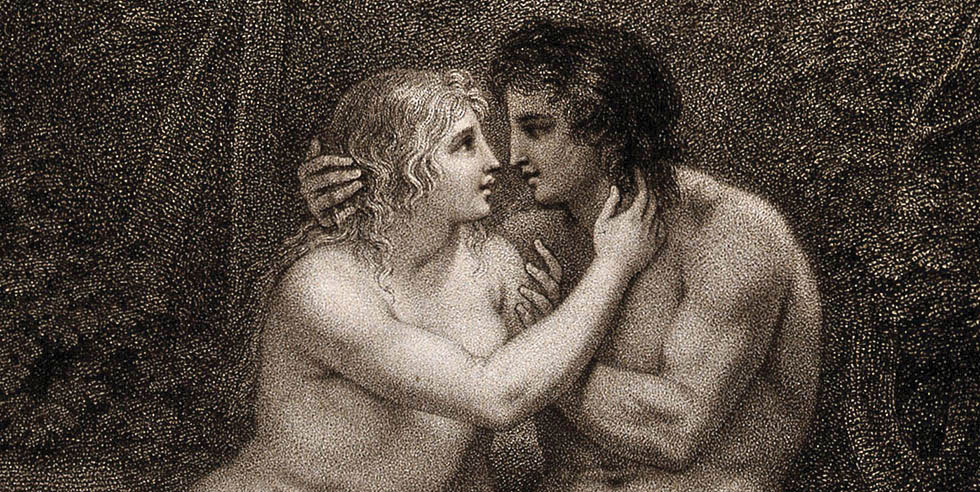V0034187 Adam and Eve in the state of innocent love. Stipple engravin