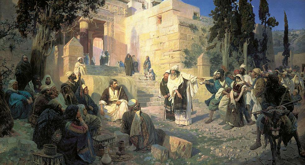 """Христос и грешница (""""Кто без греха?"""") / Василий Поленов (1844-1927)"""