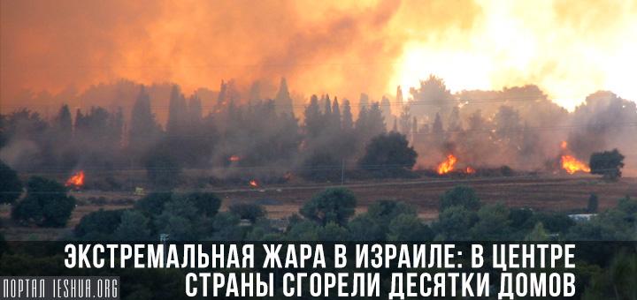 Экстремальная жара в Израиле: в центре страны сгорели десятки домов