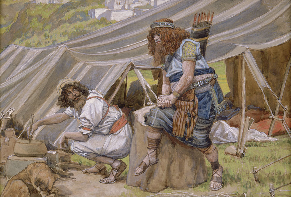 The Mess of Pottage, Artist: Tissot, Photographer: John Parnell, Photo © The Jewish Museum, New York