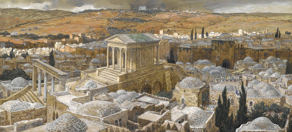 The Pagan Temple Built by Hadrian on the Site of Calvary / James Tissot