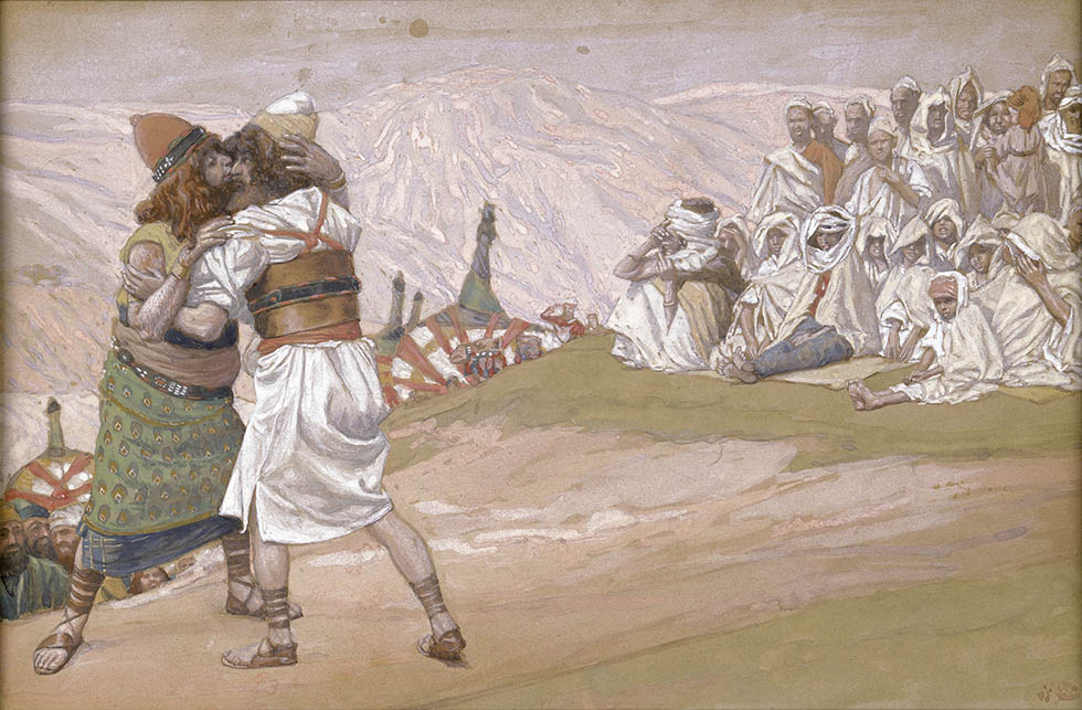 The Meeting of Esau and Jacob, c. 1896-1902, by James Jacques Joseph Tissot (French, 1836-1902), Jewish Museum, New York