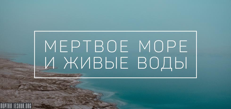 Мёртвое море и живые воды
