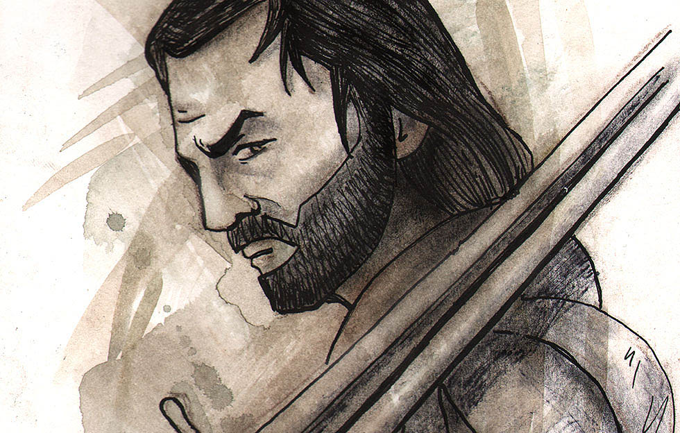 "picture - ""Illustration of Aragorn, one of the characters in the Lord of the rings."", author - JesicaLR"