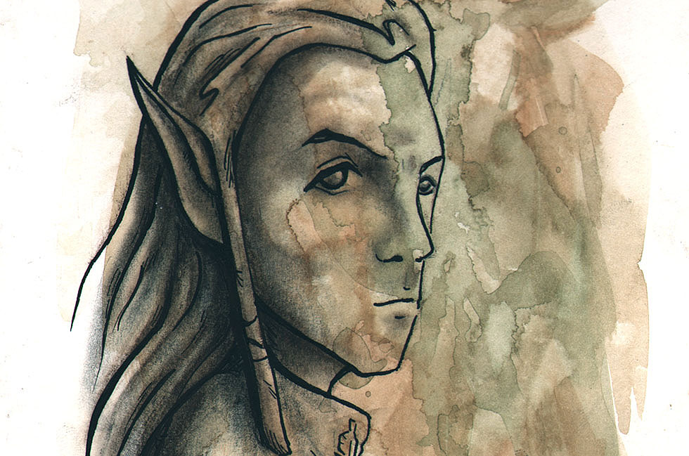 "picture - ""Illustration of Legolas, one of the characters in the Lord of the rings."", author - JesicaLR"