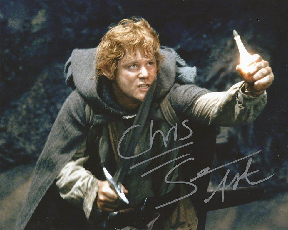 "photo - Chris, ""Samwise Gamgee Hobbit. Signed thanks to my friend Johnny September 2012"""