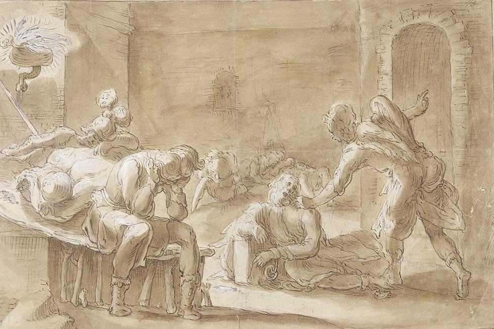 ангел и апостол Пётр в темнице
