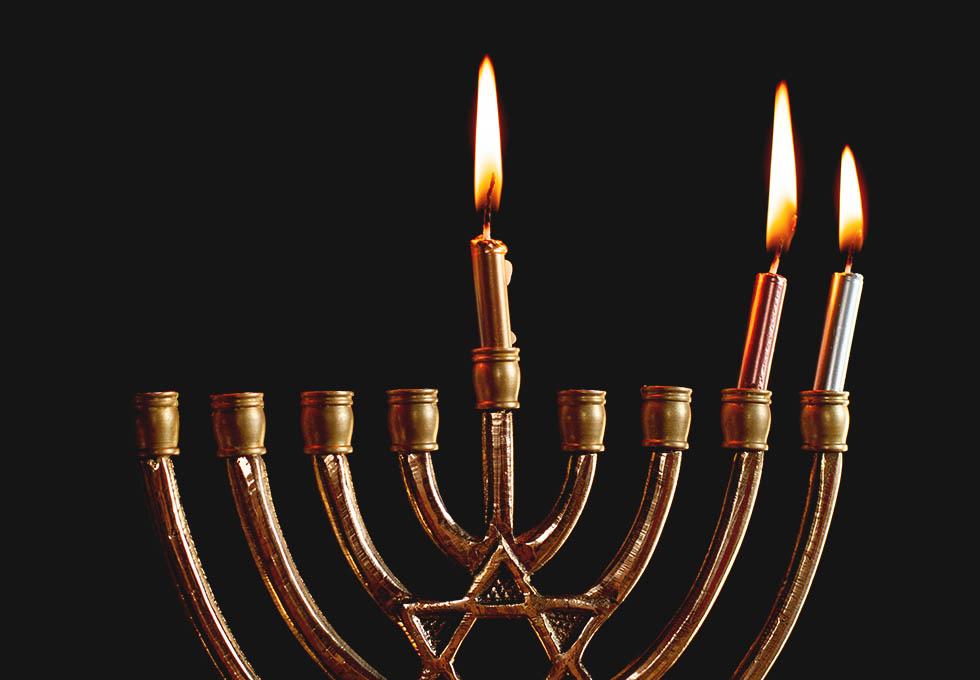 Зажигание второй свечи на Хануку