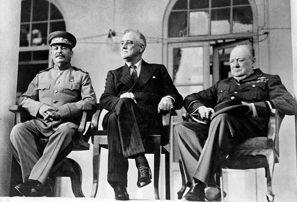 Сталин, Рузвельт и Черчилль